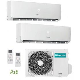 Hisense 2AMW42U4RRA + DJ25VE0AG + DJ25VE0AG Aire Acondicionado 2x1