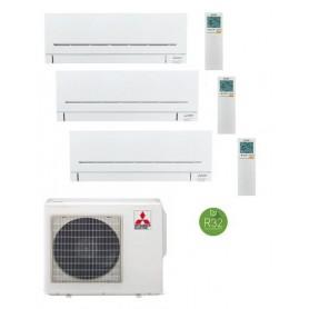 MITSUBISHI ELECTRIC MXZ-3F68VF + MSZ-AP25VG + MSZ-AP35VG + MSZ-AP35VG - EQUIPO 3X1 -AIRE ACONDICIONADO