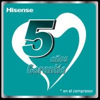Garantia Hisense 5 años compresor
