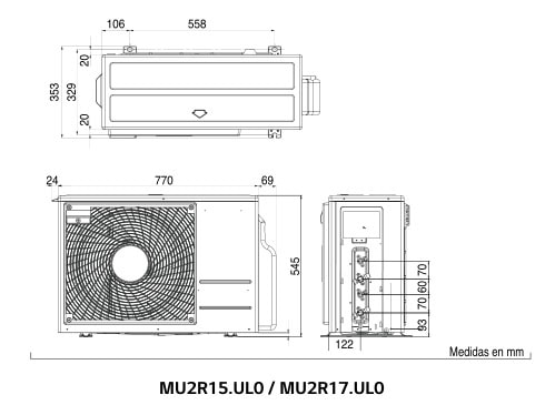 Tabla caracteristicas MU2R15 LG