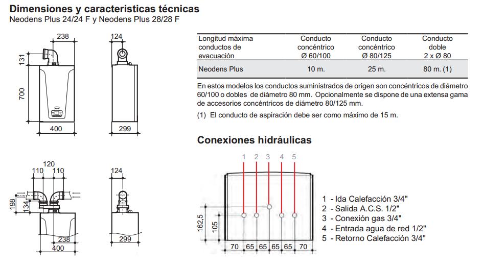 Caldera baxi neodens plus eco 28 28f expertclima for Instrucciones caldera roca