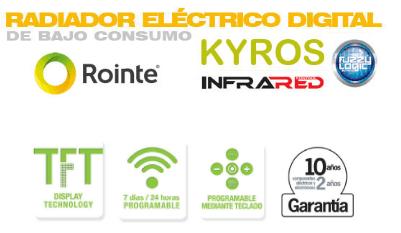 Radiador electrico Kyros short caracteristicas
