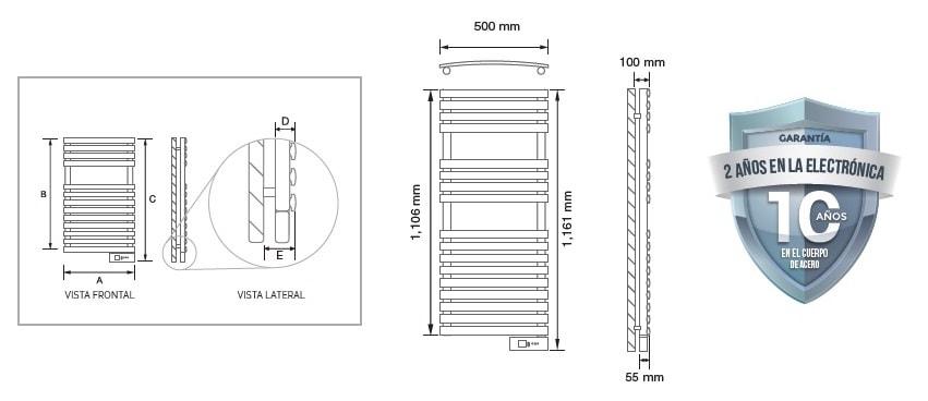 Rointe Secatoallas Serie D 450w
