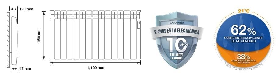 Rointe Serie D radiador 1430 W