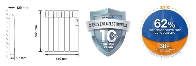 Rointe radiador serie D 550 W